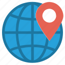 country, earth, globe, location, location pin, map, world