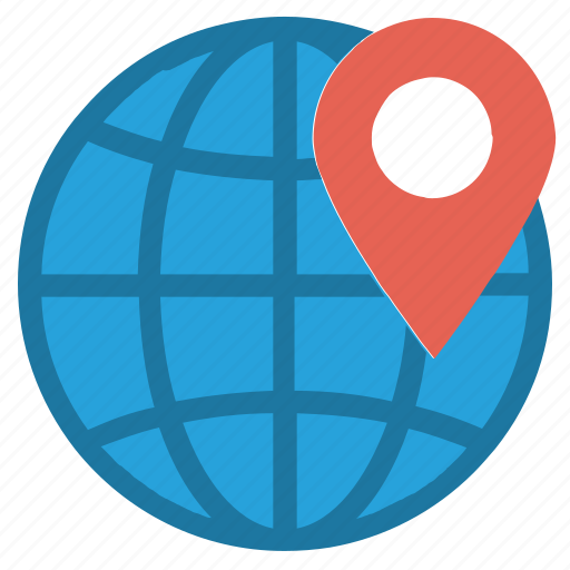 country, earth, globe, location, location pin, map, world icon