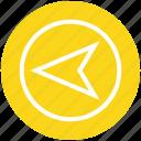 arrow, direction, left arrow, location, marker, navigation