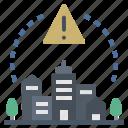 alert, city, critical, emergency, lockdown icon
