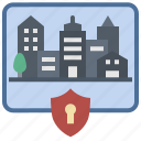 city, curfew, lockdown, protection, safety, security, shutdown icon