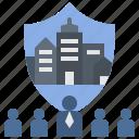 city, defensive, lockdown, participate, teamwork icon