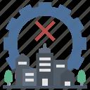 critical, curfew, enforcement, lockdown, shutdown icon