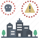 critical, emergency, lockdown, plague, threat icon