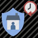 curfew, defensive, lockdown, quarantine, time icon