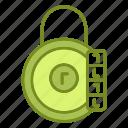 lock, padlock, password, protection icon