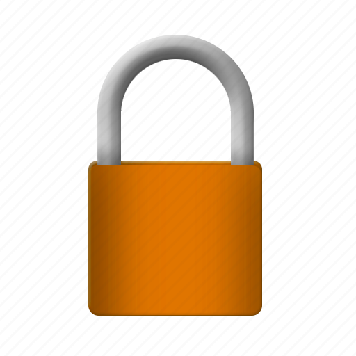 gold, lock, padlock, protection, safety icon