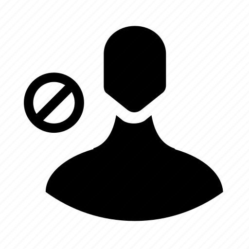 account, block, user icon