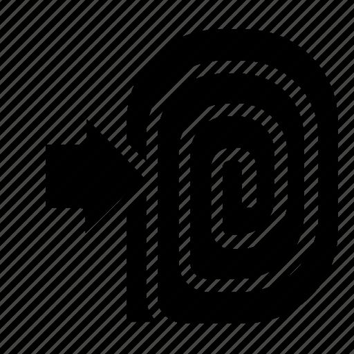 fingerprint, log, login icon