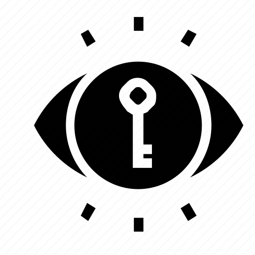 key, view, visbility icon