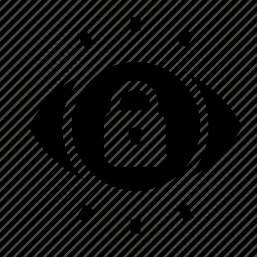 lock, visibility icon