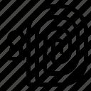 fingerprint, key, keyhole, passkey, password, security icon