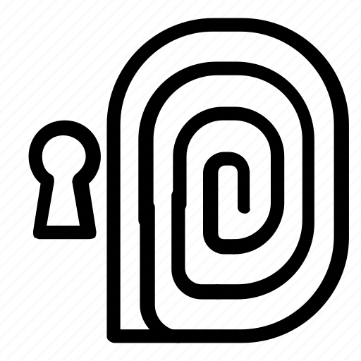fingerprint, passkey, password icon