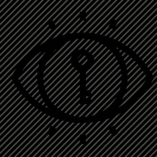 key, lock, view, visibility icon