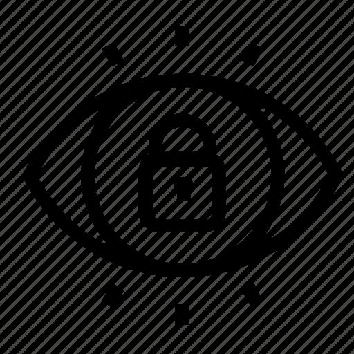 lock, password, visibility icon