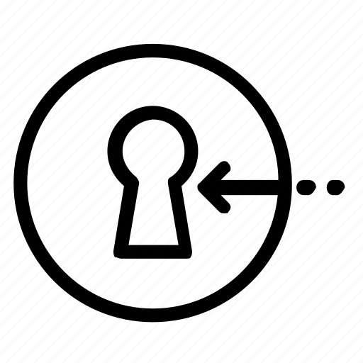 keyhole, log in, login icon