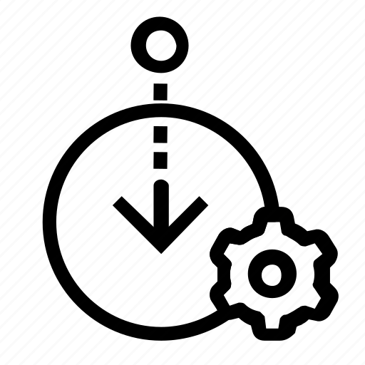 in, log, settings icon
