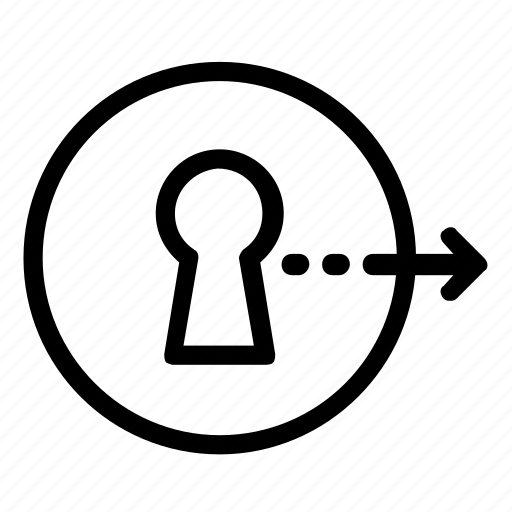 keyhole, log out, logout icon