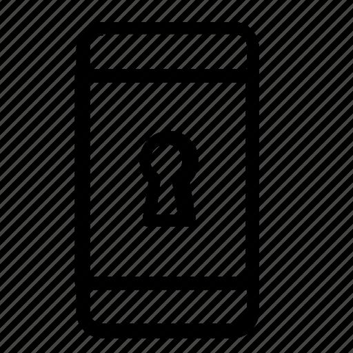 keyhole, password, smartphone icon
