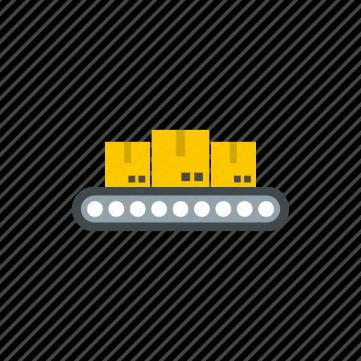 belt, cargo, conveyor, industrial, load, manufacturing, metal icon
