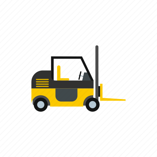 equipment, forklift, industrial, industry, machine, machinery, vehicle icon