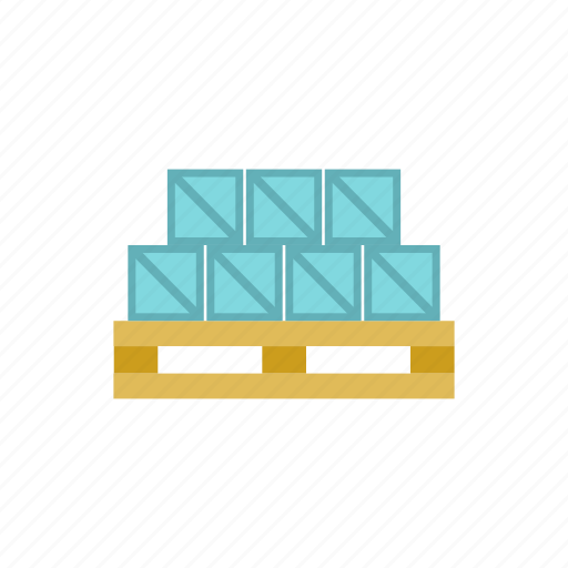boxes, cardboard, delivery, goods, package, transportation, warehouse icon