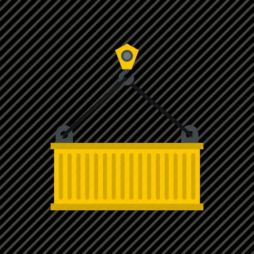 construction, crane, equipment, hook, industrial, lift, load icon