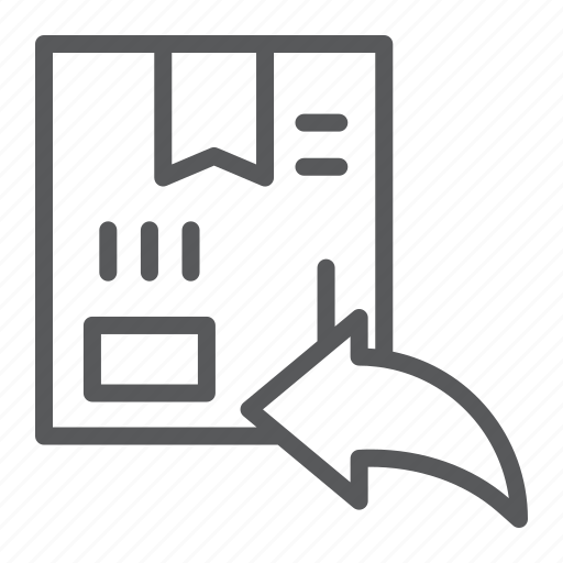 box, cardboard, delivery, logistic, return, shipping icon