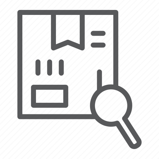 box, cargo, logistic, package, search, service, tracking icon