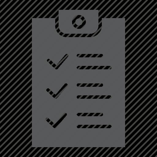 check, checklist, document, form, list, note, report icon