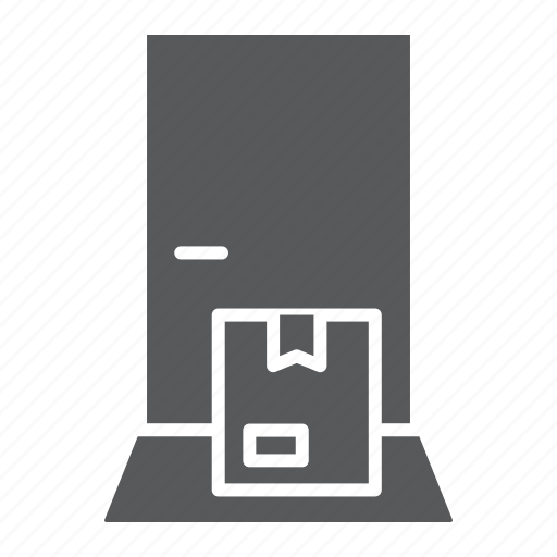 box, cardboard, delivery, door, logistic, service, shipping icon