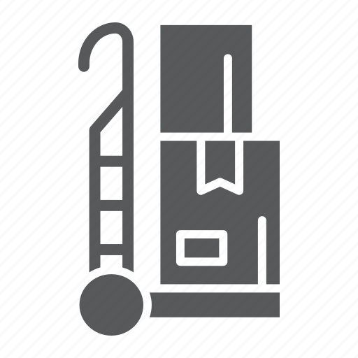box, cargo, hand, logistic, package, trolley, truck icon