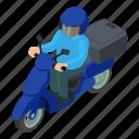 delivery, dm3, illustration, isometric, logo, moto, vector