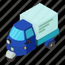 car, delivery, dm3, illustration, isometric, logo, vector