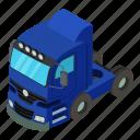 dm3, illustration, isometric, logo, object, truck, vector
