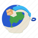 delivery, illustration, isometric, logo, vector, world