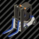 dm3, equipment, illustration, isometric, loader, logo, vector