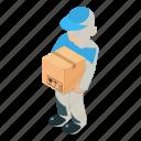 courier, dm3, illustration, isometric, logo, object, vector
