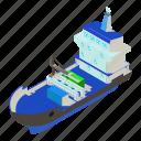 delivery, dm3, illustration, isometric, logo, ship, vector