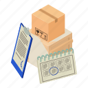 delivery, dm3, illustration, isometric, logo, package, vector