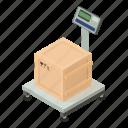 box, dm3, illustration, isometric, logo, scales, vector