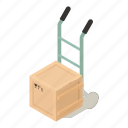 box, cart, dm3, illustration, isometric, logo, vector