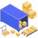 cargo container, container loading, container storage, containerization, shipment