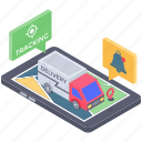 consignment tracking, logistic tracking, online delivery tracking, order tracking, shipment tracking icon