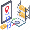 logistic services, online consignment, online delivery services, online order, online shipment icon