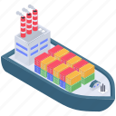 sea freight, consignment delivery, cargo ship, sea delivery transportation, maritime shipment icon