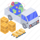 global delivery, logistic delivery, worldwide delivery, worldwide freight, worldwide shipment icon