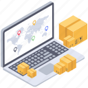 consignment tracking, online delivery tracking, order tracking, parcel tracking, shipment tracking icon