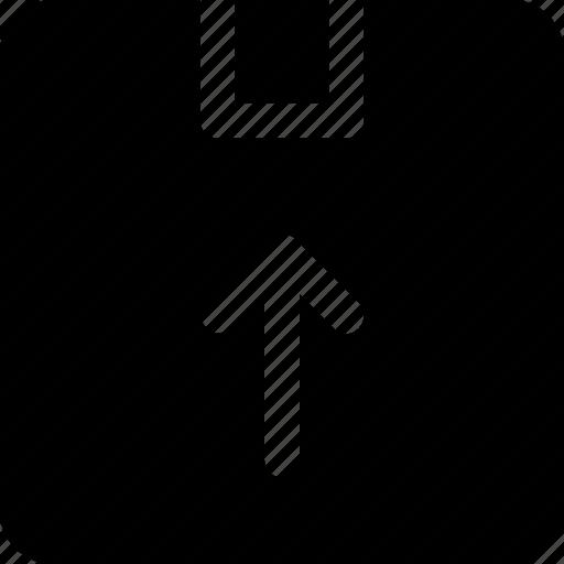 archive, arrow, box, up icon icon