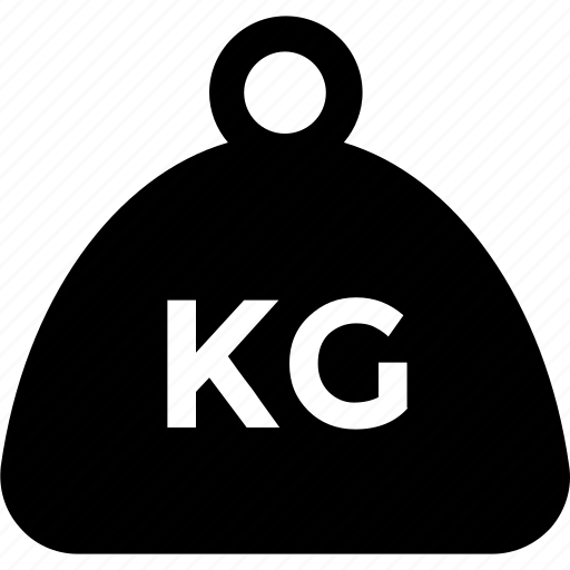 kettlebell, kg, mass, weight icon icon